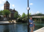 That's me by the Canal Walk in downtown Indianapolis not far from the Convention Center.