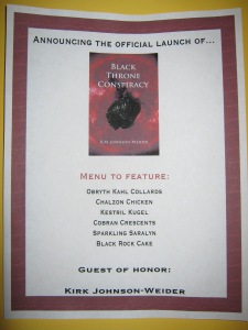book launch party menu